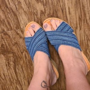 2 for $40 🌹 3 inch Blue Wedge Sandals
